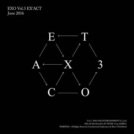 EXO - 3rd Album: EX'ACT CD (Chinese Version)