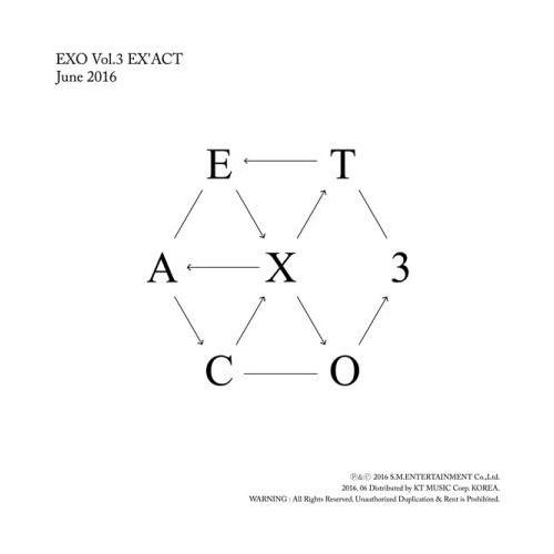 EXO - 3rd Album: EX'ACT CD (Korean Version)