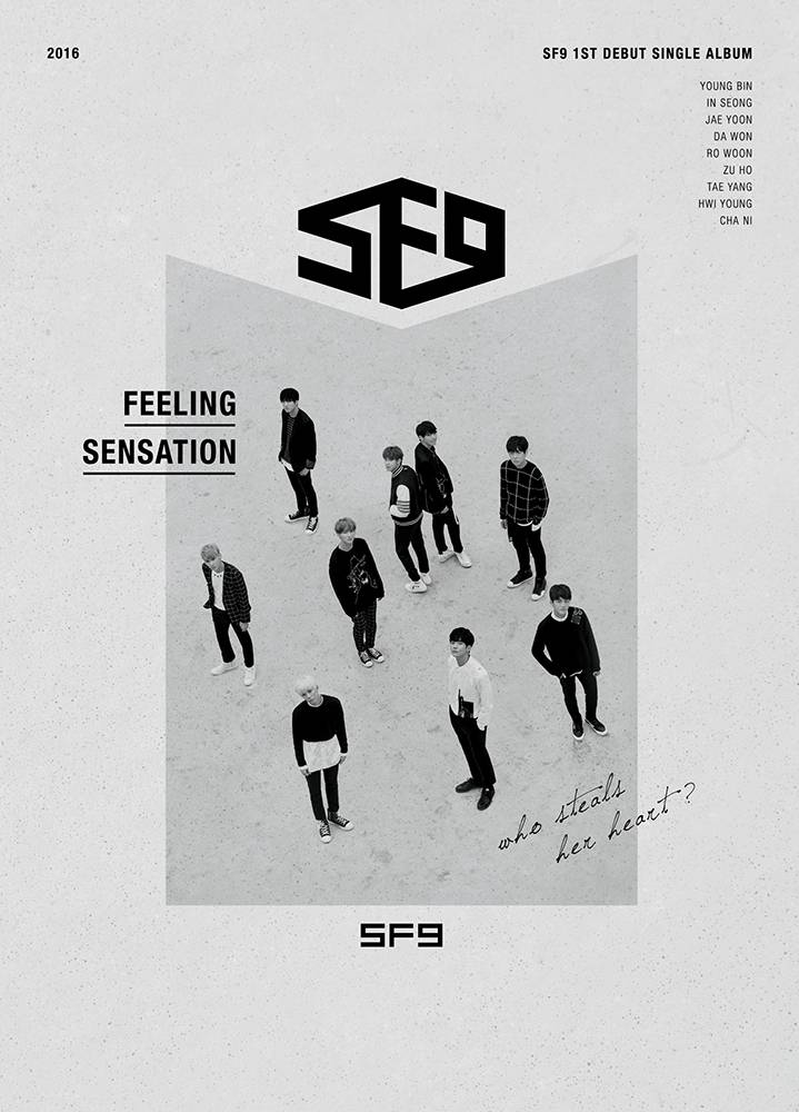 SF9 - 1st Debut Single Album: Feeling Sensation CD