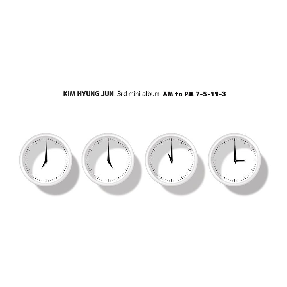 "Kim Hyung Jun - 3rd Mini Album Repackage: AM to PM ""7-5-11-3"" CD"