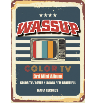 Wassup - 3rd Mini Album: Color TV CD