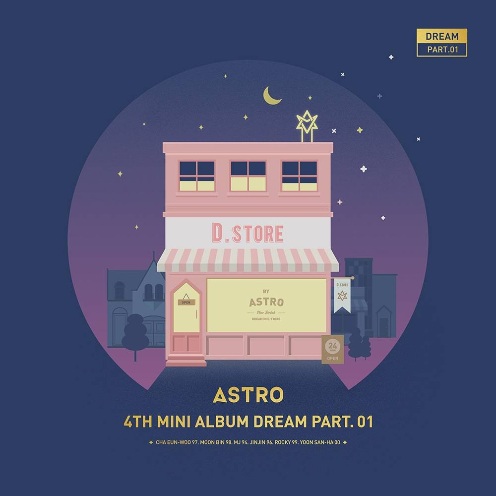 Astro - 4th Mini Album: Dream Part. 01 CD (Night Version)