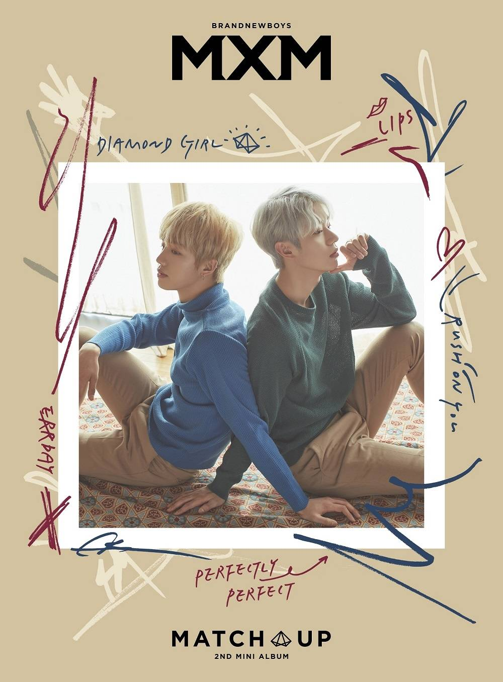 MXM (BRANDNEWBOYS) - 2nd Mini Album: MATCH UP [X ver.] CD