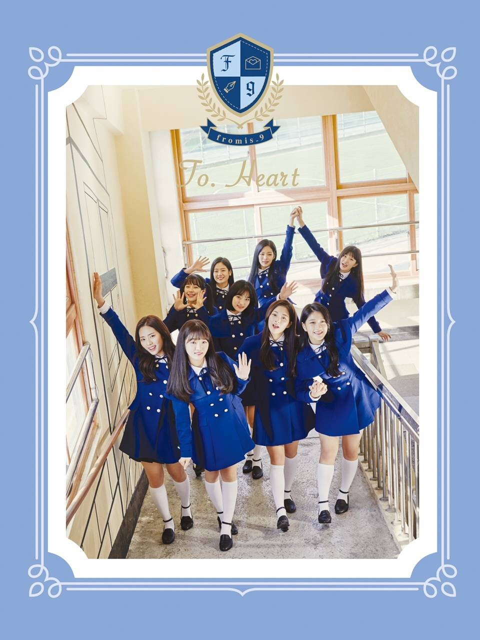Fromis_9 - Debut Album: To. Heart CD (Blue Version)