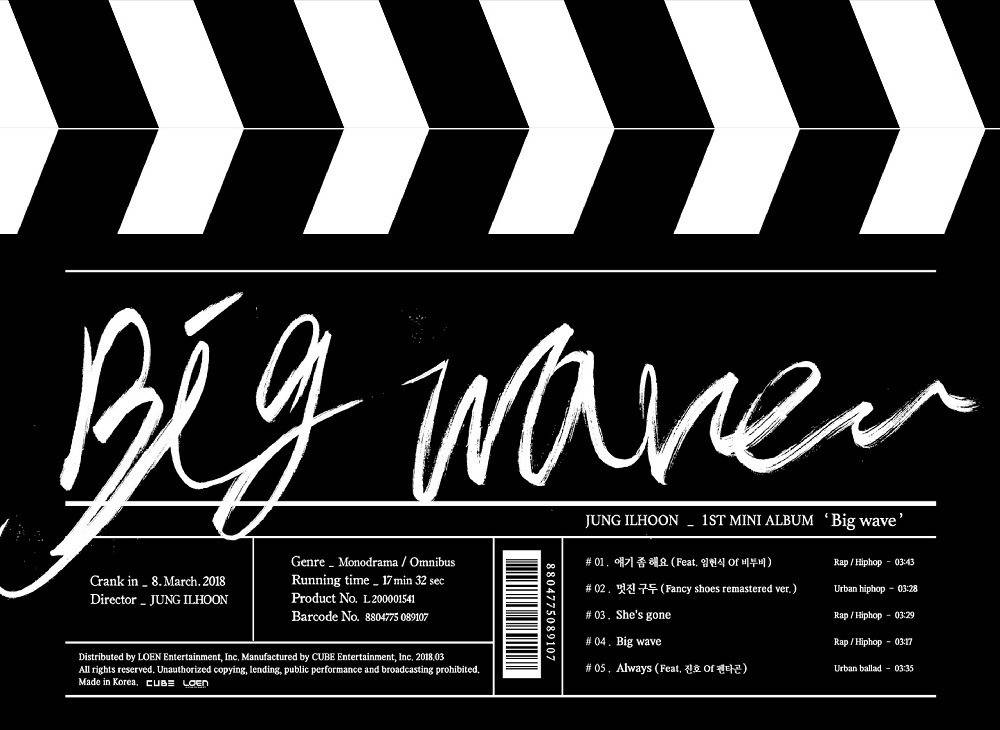 Jung Ilhoon (BTOB) - 1st Mini Album: Big Wave CD