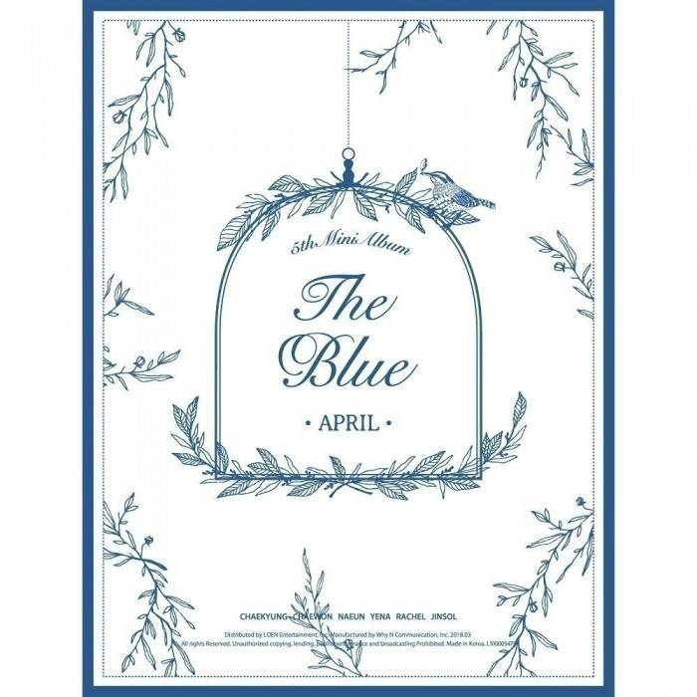 April - 5th Mini Album The Blue