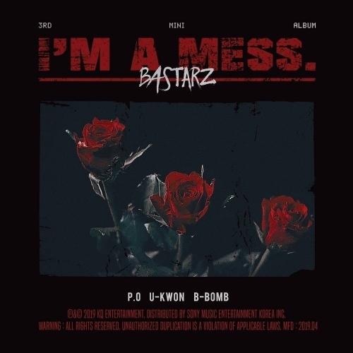 Block B BASTARZ - 3rd Mini Album I'm a mess. (slipcase creased)