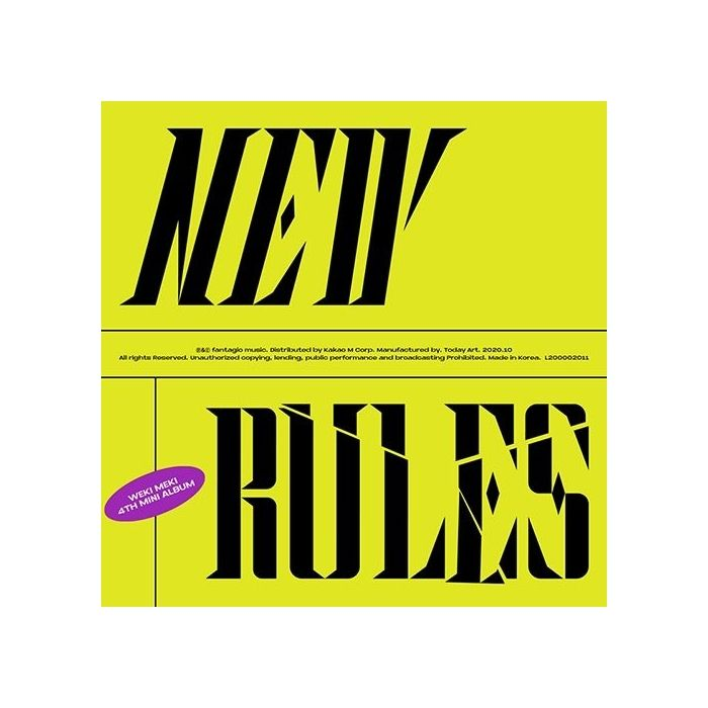 Weki Meki - 4th Mini Album NEW RULES (Take Ver.)