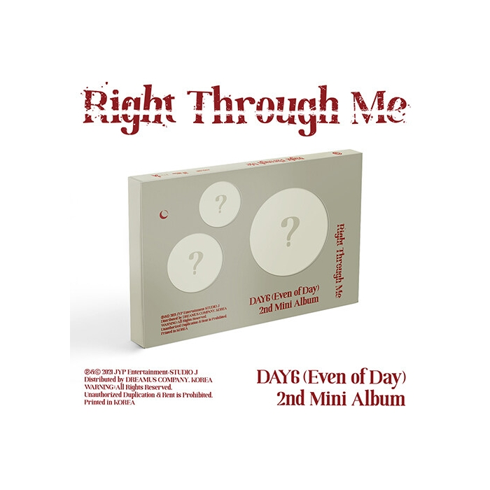 DAY6 (Even Of Day) - 2nd Mini Album Right Through Me